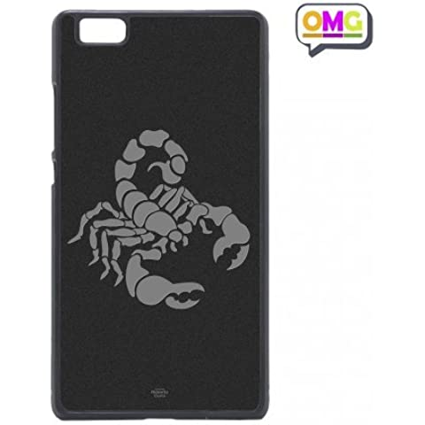 Cover per Huawei P8 Lite Scorpione Segno Zodiacale Grigio Zodiaco - Custodia Regalo Personalizzato Scheda