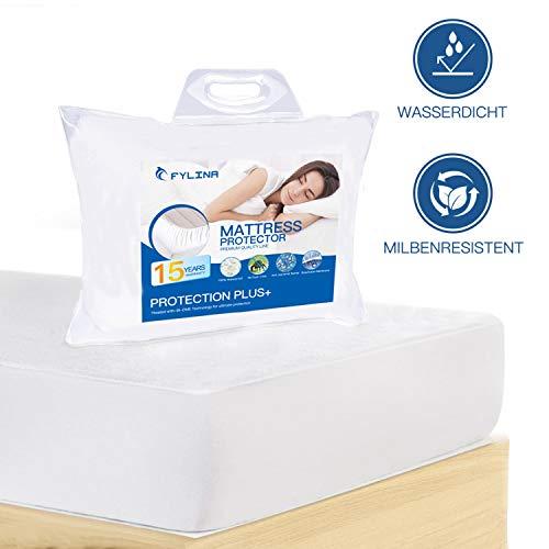 FYLINA Matratzenschoner Wasserdichter 180x200cm Matratzenauflage Atmungsaktive Anti Allergisch Gegen Milben und Schimmel Matratzenschutz Matratzenbezug mit Neuartiger Behandlung Optimaler Schutz