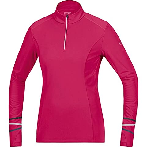 GORE RUNNING WEAR Damen Warmer Thermo-Langarm-Lauf-Jersey, GORE Selected Fabrics, MYTHOS LADY 2.0 Thermo Shirt long, Größe 38, Pink, SMYTTL