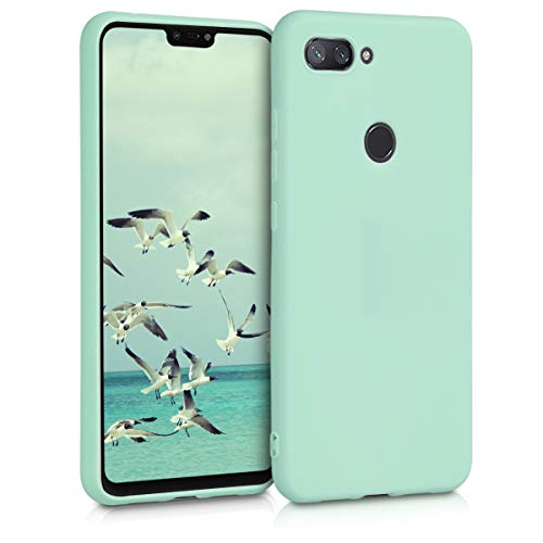 kwmobile Funda para Xiaomi Mi 8 Lite - Carcasa para móvil en TPU Silicona - Protector Trasero en Menta Mate