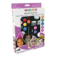 Snazaroo Ultimate Party Pack Face + Body Paint Painting Kit Makes 50+ Faces