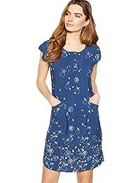Mantaray Womens Blue Fruit Print Knee Length Tunic Dress 3992aba2a
