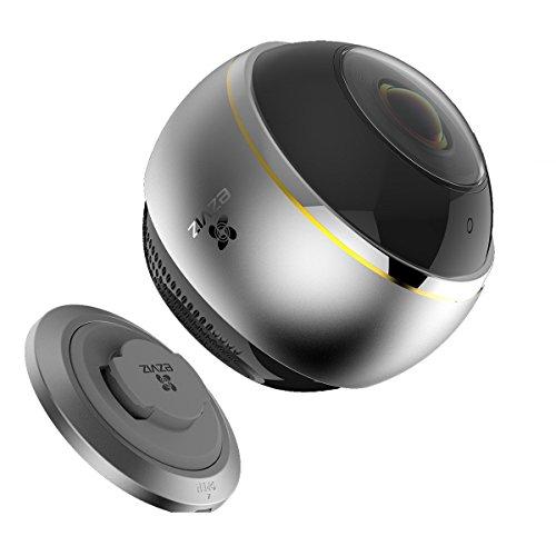 EZVIZ ez360 Pano(Mini Pano), 3 Megapixel WLAN-Fischaugen-Kamera mit Nachtsicht, 360-Grad-/Fischaugen-Panoramaüberwachung, 2/4 Splitscreen, Mikrofon und Lautsprecher, 2.4 Ghz und 5 GHz Dualband-WLAN - 2