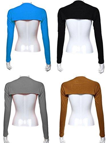 GladThink 4 X Muslim Modal Islam Arm Cover Shrug Bolero Des Femmes Noir/Chameau/Gris/LAKEBleu