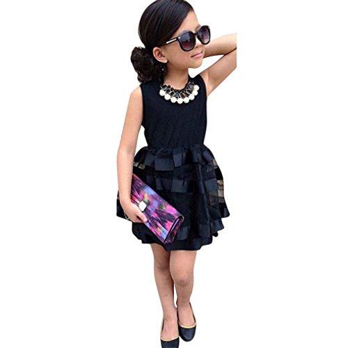 4-hochzeits-kleid-kleid (Vovotrade Kleinkind Kinder Baby Mädchen Prinzessin Party Festzug Hochzeit Tüll Tutu Blume Kleider für 1 bis 7 Jahre altes Mädchen (Größe: 4 / 5 Jahre alt))