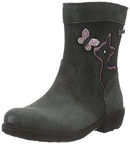 Ricosta Mädchen Feline Kurzschaft Stiefel, Grau (Grigio 485), 32 EU