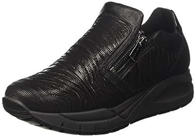 DEN 8787, Sneaker a Collo Basso Donna, Nero, 40 EU Igi & Co