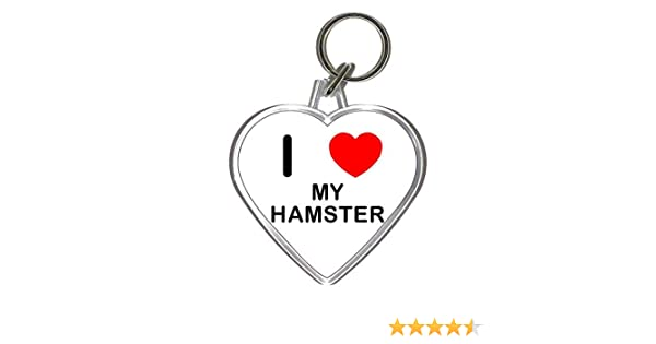 Funny Animal Animal Beware Crazy Hamster Man Keyring Key Chain