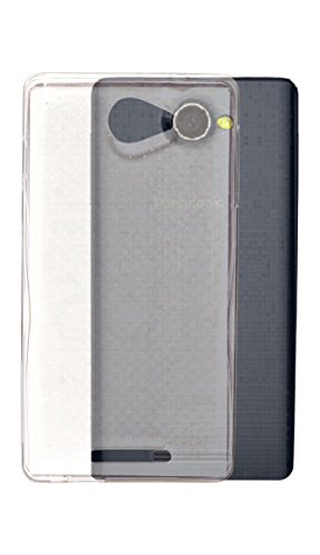 ECellStreet Exclusive Dotted Transparent Crystal Clear Soft Back Case Cover Back Cover for Panasonic P55