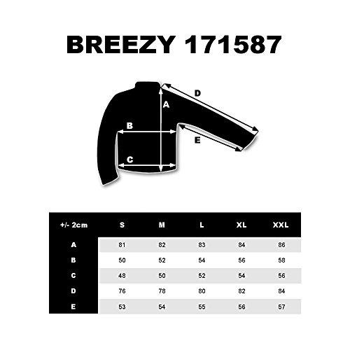 BOLF Felpa – Con cappuccio – Con zip – Allungata – Arrotondata – Con stampa – Con stemma – Con motivi – Street style – Da uomo 1A1 Grafite