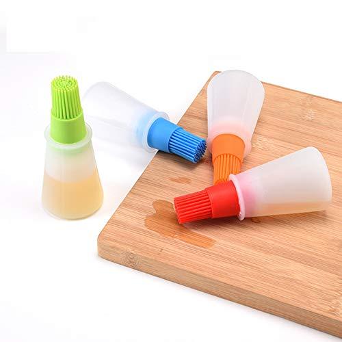 1Pc Zufällige Farbe Silikon Grill Pinsel Grill Flasche Sweep Hochtemperatur Pinsel Backwerkzeug Kücheware Pinsel