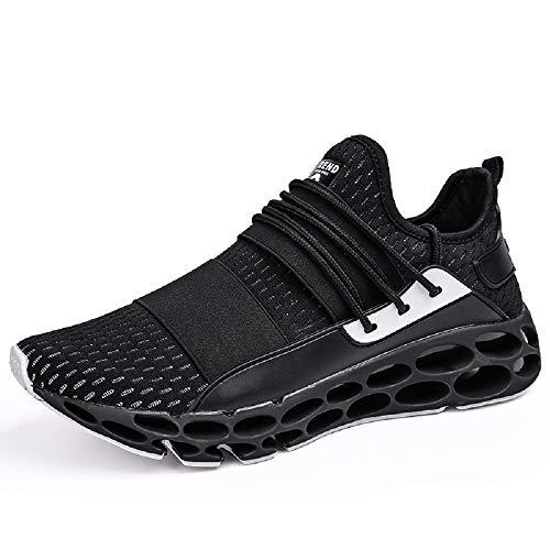 Laufschuhe Herren Turnschuhe Atmungsaktiv Leichtes Sneaker Sportschuhe (45 EU, 6-Schwarz)