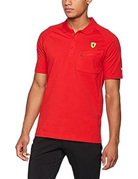 Puma Sf Camiseta Polo, Hombre, Rojo, XL