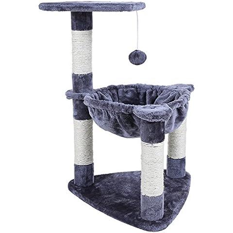 Songmics Compacto Árbol para gatos Rascador con nido redondo bola de juego 68 cm PCT83G
