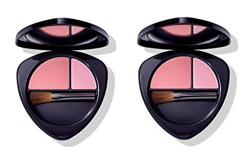 Dr.HAUSCHKA–Blush Duo 02Dewy Peach 2Packungen 5,7g, Rouge 100% Natur, Pigmente...