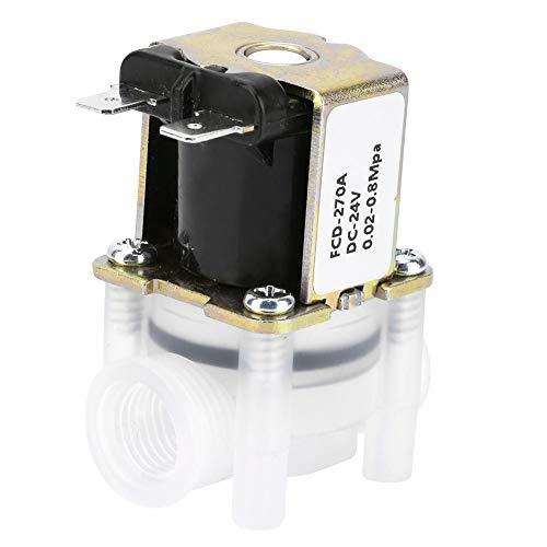 Magnetventil, 1/4 Zoll, normal geschlossen, Typ N/C, 24-V-DC-Kunststoffventile für Reinwassermaschinen -
