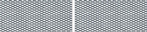 Alu-métal déployé, 2 pièces, noir, chaque 625 x 200 mm