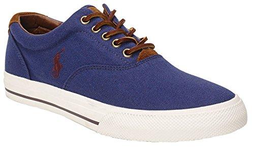 Ralph Lauren Mens Vaughn SK VLC Textile Trainers Bleu - Observer Blue