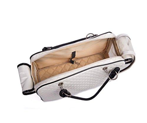 ZZHH PVC di viaggio cane borsa portatile ventilazione gatto casella prodotti per animali domestici . black White