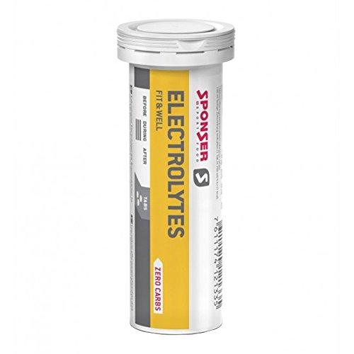 Preisvergleich Produktbild Sponser Electrolytes Tabs 10 Tabs 4, 5g Zitrone Energie Ausdauer Laufsport Nahrungsergänzung,  12-133