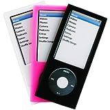 MCA Pack de 3 housses en silicone pour iPod nano 5G Noir/Rose/Blanc