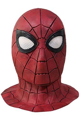 RedJade Superheld Spiderman Far from Home Maske Cosplay Latex Erwachsene Maske Cosplay