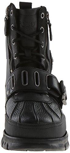 Cheville Bottes de Polo Ralph Lauren Andres III Hommes cuir Noir