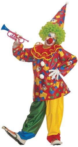 erkostüm Funny Clown, Coat mit Kragen, Hose und Hut, Größe 128 (Kragen Clown Kostüme)
