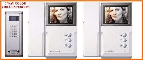 L1C- 2 WAY COLOUR LCD AUDIO & VIDEO DOORPHONE ACCESS ENRTY INTERCOM SYSTEM