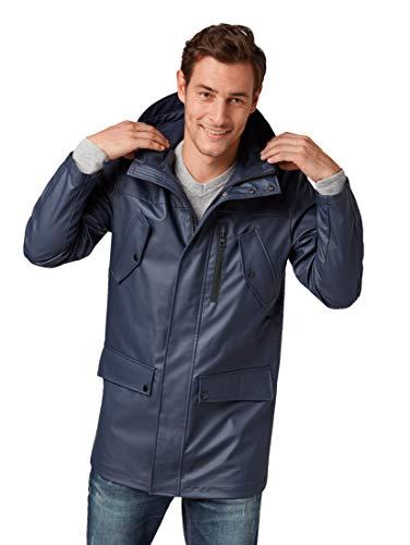 TOM TAILOR für Männer Jacken & Jackets Regenmantel Knitted Navy, L -