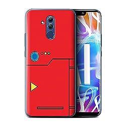 Stuff4® Hülle/Case für Huawei Mate 20 Lite/Rot Muster/Anime Cartoon Kodex Kollektion