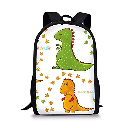 spArt Children's Backpack Vintage Campus Schoolbag Cute Kids Shoulder Bookbag Dinosaur Printed Rucksack Cartoon 3D Dino Animal Daypack Outdoor Travel Bags for Girls and Boys