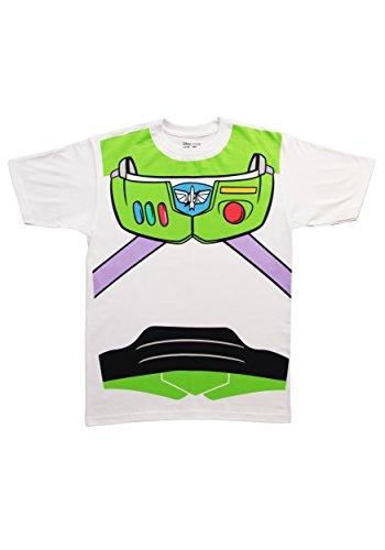Toy Story Buzz Lightyear Astronaut Kostüm weiß Erwachsene T-Shirt 3X