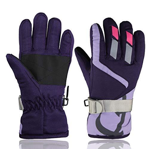 Momoon Kinder Handschuhe Winter Warme Outdoor Ski & Snowboard Handschuhe Einheitsgröße (für Kinder 2-4) | 00821511805850