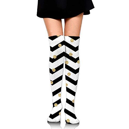 Rundafuwu Women Men Halloween Doodle Pattern Long Stockings Unisex Sport Long Socken 50CM