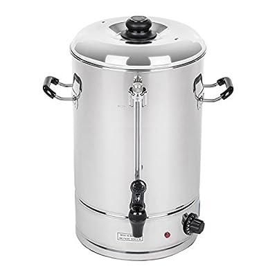 Royal Catering - RCWK 40L - Bouilloire 40 litres - 223 tasses - max. 100 °C - 230 V - Robinet - Indicateur de niveau
