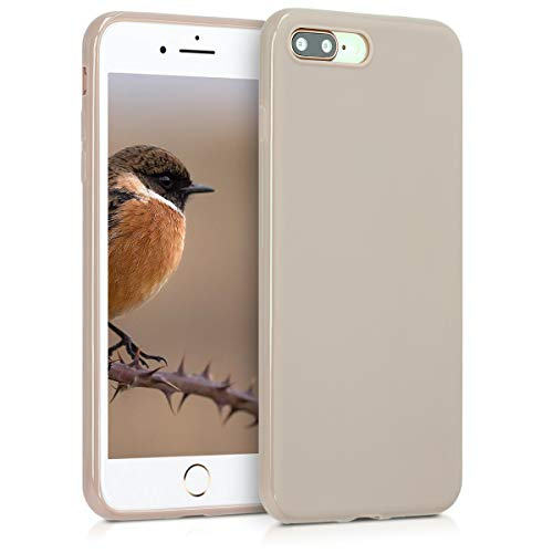 kwmobile Apple iPhone 7 Plus / 8 Plus Hülle - Handyhülle für Apple iPhone 7 Plus / 8 Plus - Handy Case in Creme matt