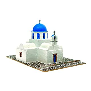 DOMUS-KITS Domus Kits40551 Geography Greek Orthodox Agios Church Model, Scale 1:50, Multicoloured