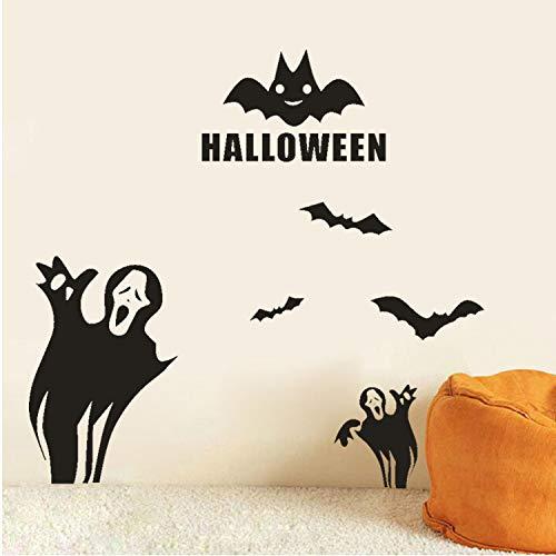 Asade Happy Halloween Bats Wall Sticker Window Home Decoration New Wall Sticker Decoration Decal DIY (Für Halloween Worte Happy)