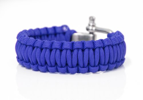 Paracord-Armband blau Survival-Seil zum Armband geflochten Paracordseil PRECORN