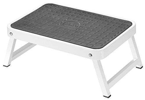 Hailo 4440-701 OneStep - der Kleine und kompakte Stahl-Klapptritt für Küche, Bad, Camping und Mehr
