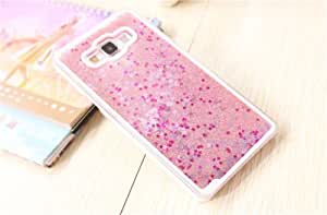 Luxury 3D Glitter Waterfall Back Cover Case For Samsung Galaxy J7 ( Rose Gold )