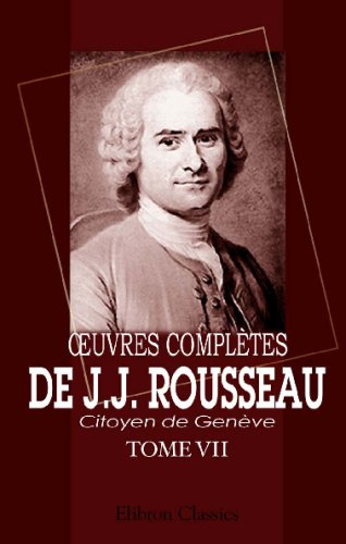?uvres complètes de J.J. Rousseau, citoyen de Genève: Tome VII. Émile. Tome 1