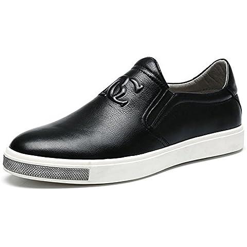 Inverno autunno moda vera pelle personalità Casual in pelle scarpe , black , 40
