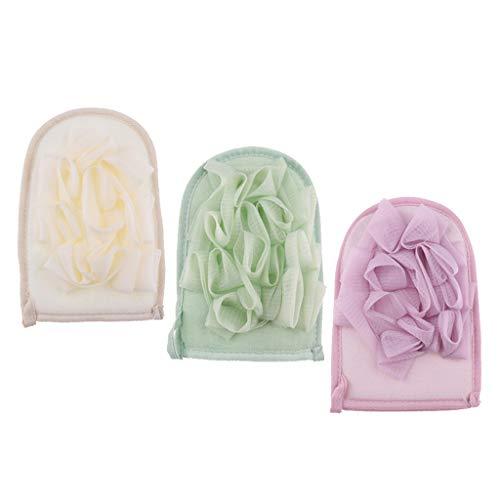 3 x Peelinghandschuh Peeling und Wellness Handschuh - Dusch Schwamm Body Badeschwamm - Handschuhe für deinen Körper