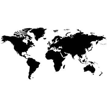 Wall world map vinyl sticker decal mural any colour 180 x 110cm wall world map vinyl sticker decal mural any colour 180 x 110cm plus gumiabroncs Image collections