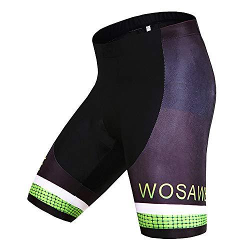 SMOMY Radhose,Radlerhose,Rennräder für 3D Gelpolster Schnelltrocknende antibakteriell Kurze Hose,Fahrrad halblange Hose,MTB Männer sitzpolster für,XXL
