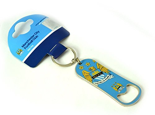 Man City MCFC Football Club Bottle Top Opener Keyring Keychain Crest Official