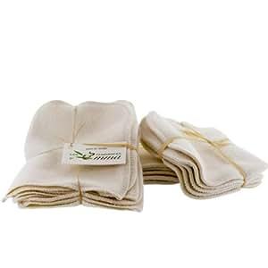 Les Tendances d'Emma - Kit carrés bébé lavables Bio et gants de change