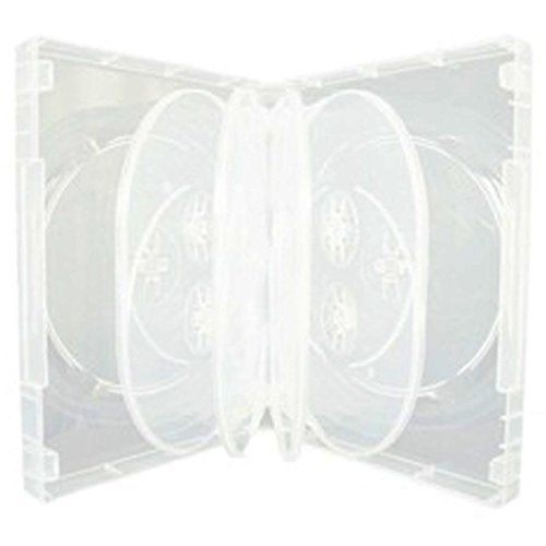 5 x CD/DVD/Blu-Ray Transparent 3...